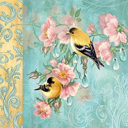 20 servilletas con diseño de pareja de pájaros en adornos como decoración...
