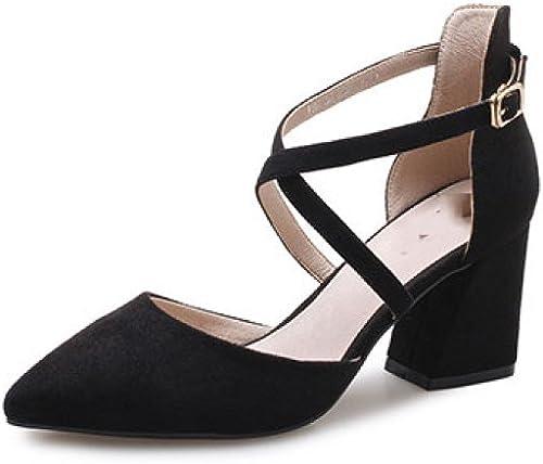 DKFJKI Chaussures pour Femmes Femmes Femmes Talons Hauts étudiant Sandales Chaussures Romaines Sauvage Coréen Baotou bf0