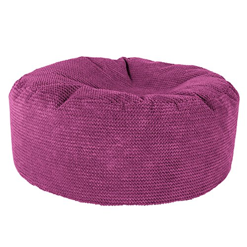 Lounge Pug®, Pouf Design Rond, Pompon Rose