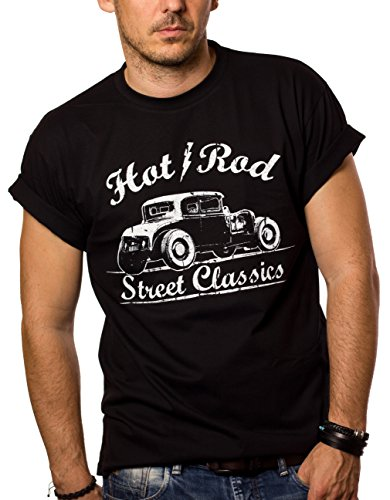 Maglietta Hot Rod - T-Shirt Rockabilly Uomo Oldtimer...