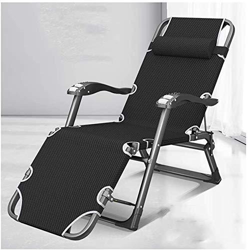 DESCANSO balancín silla reclinable, plegable Tumbona, multi-funcional ajustable del respaldo reclinable, Lazy Inicio Silla de oficina, portátil jardín al aire libre silla de playa (Color: A) HAIKE