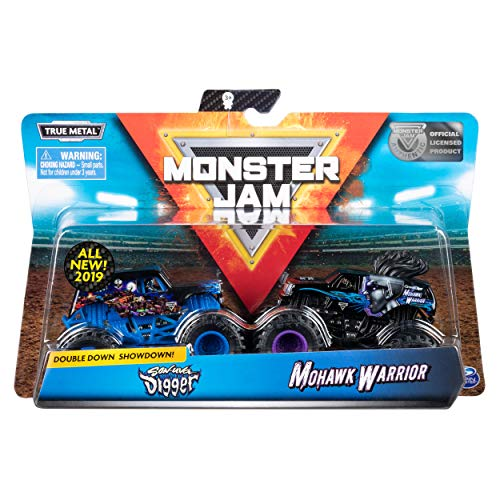 Monster Jam Official Son-uva Digger vs Mohawk Warrior Die-Cast Monster Trucks, 1:64 Scale, 2 Pack