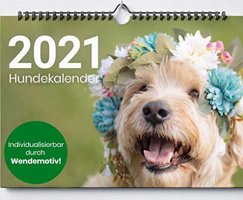 Hundekalender 2021 | HIGHLIGHT - Wendemöglichkeit zum selbstgestalten | Wandkalender Hund Welpe | Kalender Hunde | Format - DIN A3 [29,7 x 42,0 cm]