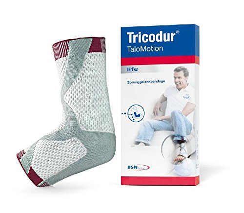 Tricodur TaloMotion Aktiv Bandage weiß/grau links Gr. M, Knöchel- und Sprunggelenksbandagen