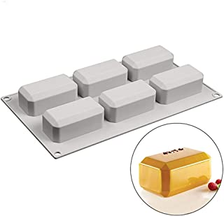 New Product Reusable Soap Molds 6 Cavity Silicone Mold Soap Making Rectangular Handmade Craft Soap Form for Home Bathroom