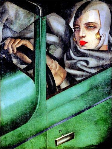 Posterlounge Lienzo 70 x 90 cm: My Portrait de Tamara de Lempicka/Museum Masters International - Cuadro Terminado, Cuadro sobre Bastidor, lámina terminada sobre Lienzo auténtico, impresión en Lienzo