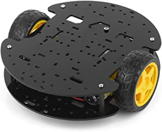 BONATECH Arduino 2 Wheels Smart Car Chassis Tracking Obstacle Avoidance Car Robot Chassis with Encoder Speed Detailed Tutorial
