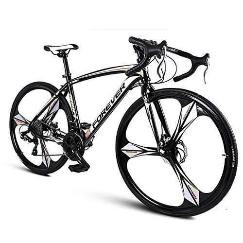 NENGGE 26 Zoll Rennrad, Erwachsene 27 Gang-Schaltung Scheibenbremsen Rennrad Fahrrad, Rahmen aus Kohlenstoffstahl Race Rennrad,Rose Gold