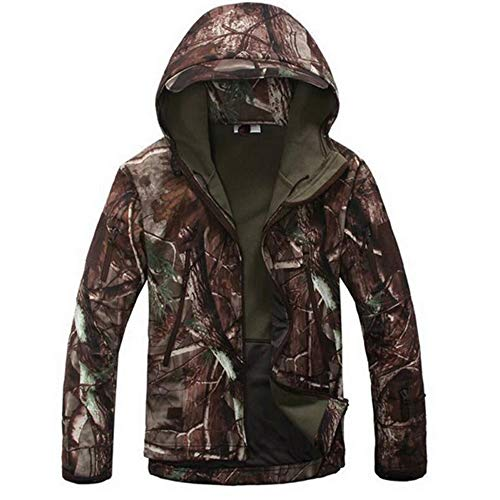 Men's Army Special Ops Military Waterproof Tactical Jacket Fleece Hooded Outdoor Coat Hiking Camping Outwear