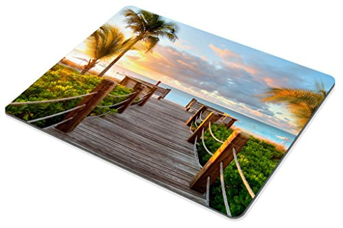 Smooffly Gaming Mouse Pad Custom,Track Palm Trees Beach Sea Ocean Personality Desings Gaming Mouse Pad Photo #4