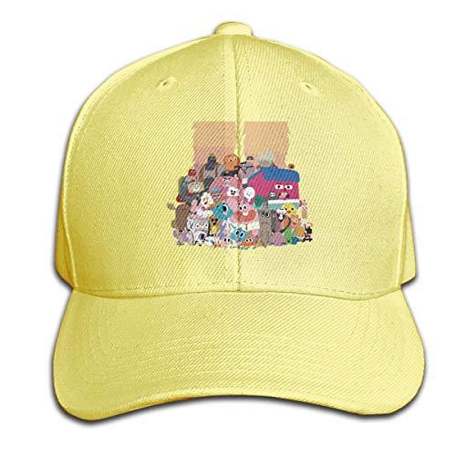 Fantasy Town Erwachsener personalisierte die erstaunliche Welt des Kaugummis und Seiner Familie Baseballhüte Coole Strapback-Kappe