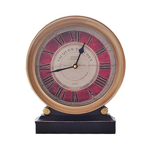 CNBBGJ American-style de style européen à grande échelle, de montres et d'horloges en fer accueil salon chambre à coucher bureau créatif mute affichage de l'horloge, 8 pouces, réveil horloge à pendule