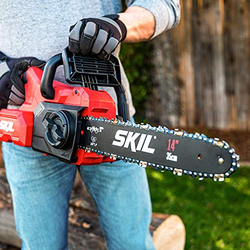 """SKIL CS4555-10 PWRCore 40 14"""" Brushless 40V Chainsaw Kit Includes 2.5Ah Battery and Auto PWRJump Charger"""