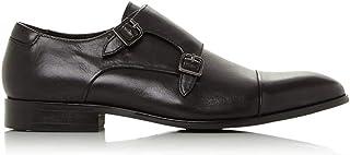 Dune Mens Scheme Double Buckle Monk Shoes Flat Heel