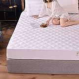 BOLO Funda de colchón acolchada impermeable con sábana elástica de gran tamaño (no incluye funda de almohada), protector de colchón acolchado de triple relleno, 150 x 200 + 25 cm