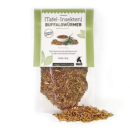 Buffalowürmer - essbare Insekten von 'SNACK insects' - 40g feine Speise-Insekten zum Kochen und Essen