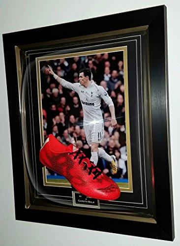 www.signedmemorabiliashop.co.uk Rare Gareth Bale Firmado con Bota de fútbol Tottenham