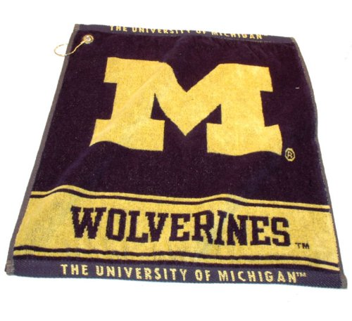 Team Golf NCAA Michigan Wolverines Jacquard Woven Golf Towel, 16