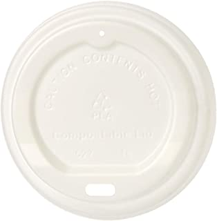 AmazonBasics Compostable Hot Cup Lid for 8 oz. Cups, Pack of 500