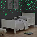 Glow in The Dark Stars, Glowing Stars for Ceiling, Space Galaxy Planets Space Ship Wall Stickers for Kids, Super Bright Stickers for Girls Boys Bedroom or Party Gift (280 pcs)