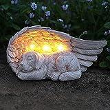 "iHeartDogs Dog Memorial Gifts - ""Forever My Guardian Angel"" Garden Solar Light - Pet Memorial Stone"