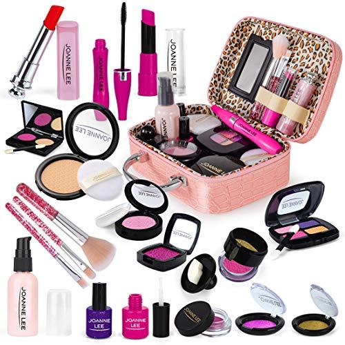 Sunery Juego de maquillaje para niños, 21 piezas, maletín de maquillaje, juego de rol, juguete para niños a partir de 3, 4 y 5 años