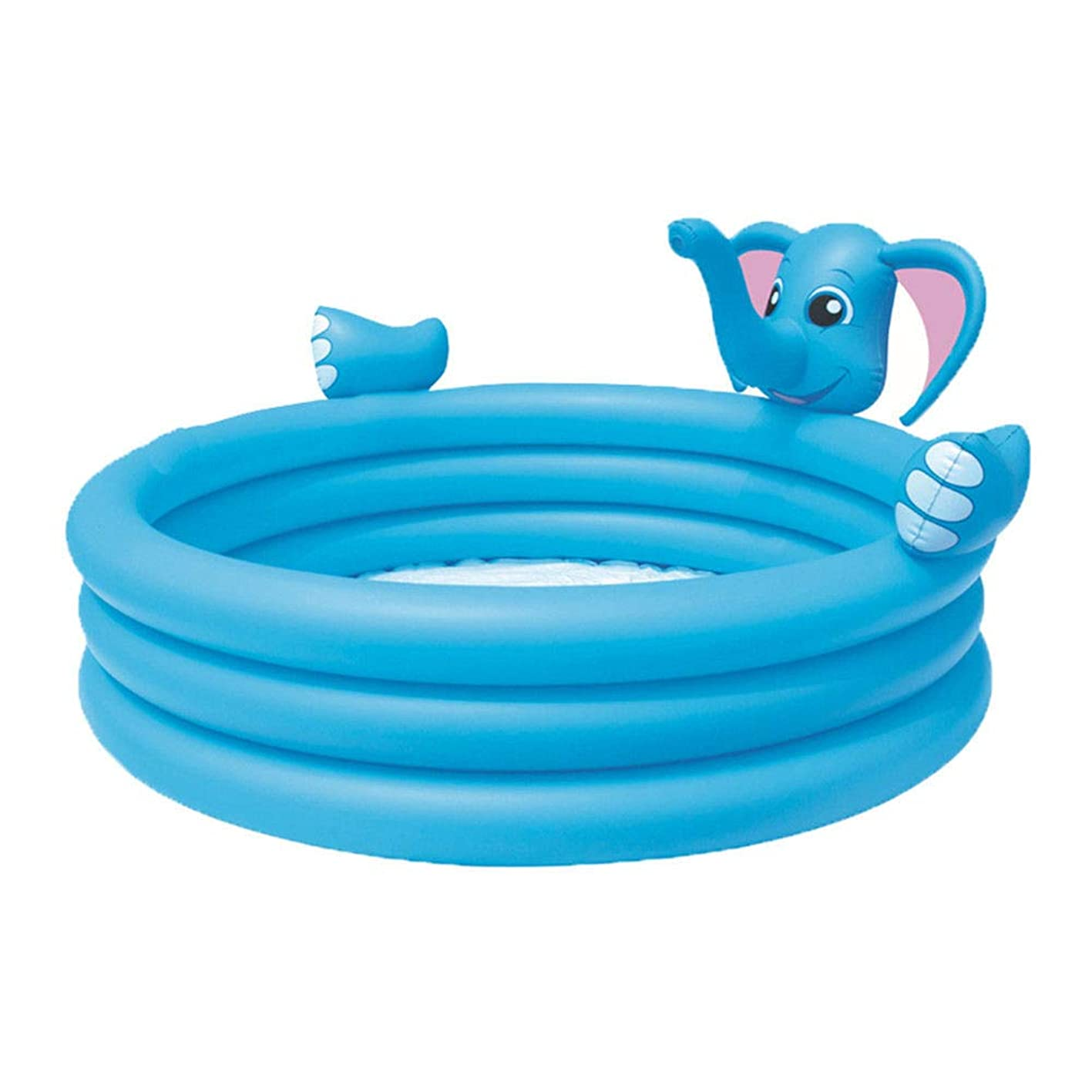 HEROTIGH Inflatable Pool Tub Play Baby Elephant Three Rings Water Spray Pool Baby Inflatable Children 152x152x74cm nmjivzakrmq690