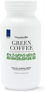 Café Verde de Vitaminalia | 500mg - 50% Ácido Clorogénico | Ayuda a la Pérdida de Peso, Quemagrasas Natural | Apto Vegano, Sin Gluten, Sin Lactosa, 90 cápsulas vegetales