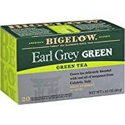 Bigelow Earl Grey Green Tea Bags, 20 Count Box (Pack of 6) Caffeinated Green Tea, 120 Tea Bags Total