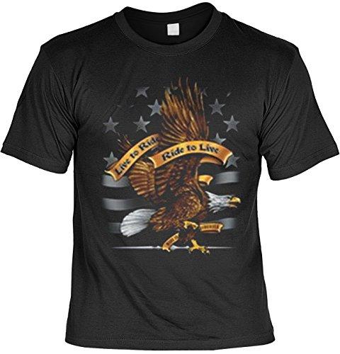 Moto Aigle Eagle Tshirt Live To Ride, Ride to Live FB Noir 50 Noir - Noir