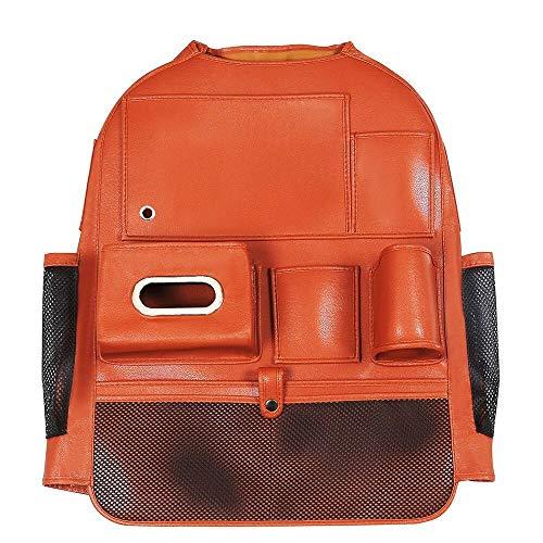 MAATCHH Bolsa de Almacenamiento Accesorios para automóviles para Camiones Familiares Bolsa de Almacenamiento de Asiento Trasero del Coche Organizador de Asientos (Color : Orange, Size : One Size)