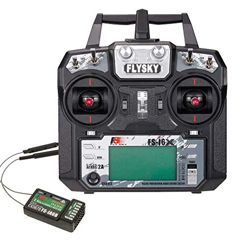 FLYSKY FS-i6X 10CH 2.4GHz RC Transmitter Controller with iA6B Receiver Upgrade Cable for RC Boat Racing Drone