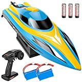 PHYWESS RC Boat Remote Control Boat, 2.4Ghz Fast RC Boats for Adults Kids with 20+ Mph Speed, Rechargeable Remote Control Boats for Pools and Lakes with Batteries, Racing Toy RC Boats for Boys Girls
