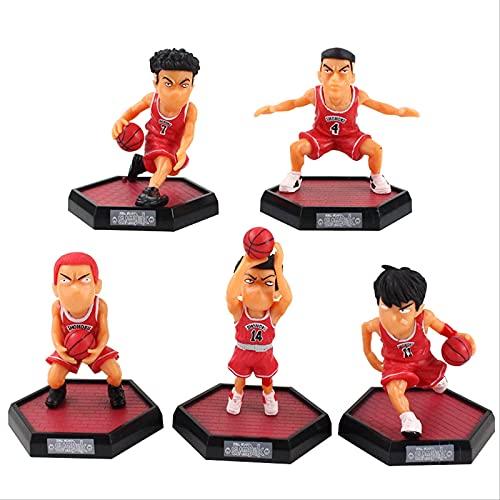 bolin 5 Unids/Set Anime Slam Dunk Sakuragi Hanamichi Figura De Acción De Baloncesto Modelo De PVC Muñeca Juguete Regalos