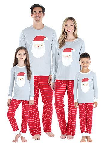 Sleepyheads Christmas Family Matching Santa Red Pajama Sets, Santa, Men's LRG