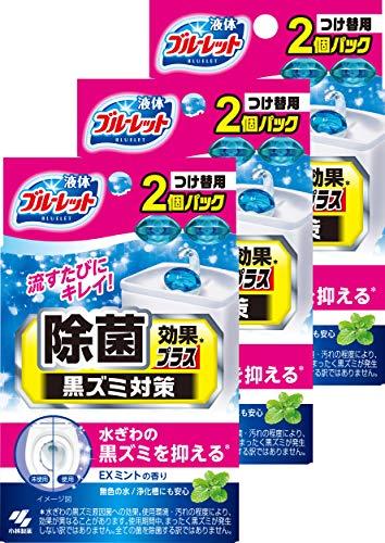 【まとめ買い】液体ブルーレットおくだけ 除菌効果プラス トイレタンク芳香洗浄剤 詰め替え用 EXミントの香り 70ml×6個