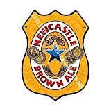 Newcastle Marrón ALE. Newky. Bar Anuncio Cerveza Antigua Pub Bebidas Bomba Insignia Fábrica de cerveza Cask Keg Calado Real Ale Pinta Alcohol Lúpulo Forma Metal/Cartel De Acero Para Pared - 27 x 20 cm