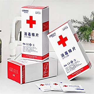 JLCKS 50 / box disposable disinfecting wipes alcohol-exchange pad antibacterial cleansing wipe clean care health care jewe...