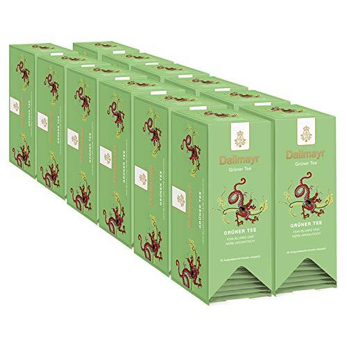 Dallmayr Tee Aufgussbeutel - Grüner Tee, 12er Pack (12 x 40 g)