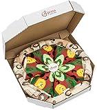 Rainbow Socks - Pizza Vegetariana Mujer Hombre - 4 pares de Calcetines - Tamaño 36-40