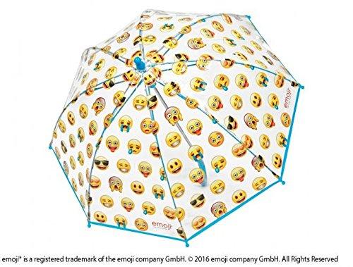 Emoji Paraguas 42cm Manual Transparente