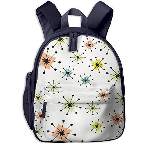 Mochilas Infantiles, Bolsa Mochila Niño Mochila Bebe Guarderia Mochila Escolar con Boomerangs de Estrellas atómicas