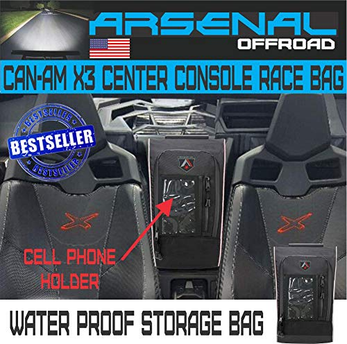 Can Am Maverick X3 Middle Seat Center Race Shoulder Console Storage Bag fits Can am Maverick X3 XRS XDS Turbo R Max 2017 2018 2019
