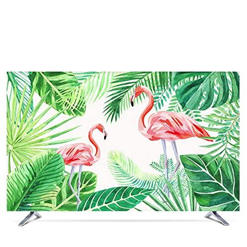 Cubierta Decorativa de 22 Pulgadas 75 Pulgadas para Pantalla de TV Hojas Cubierta de TV Exterior Verde Impermeable 347 (Color: Verde, Especificación: 60')