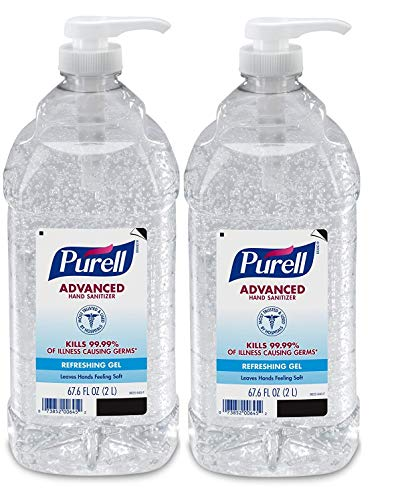 PURELL Advanced Hand Sanitizer Refreshing Gel for Workplaces, Clean Scent, 2 Liter pump bottle (Pack of 1) – 9625-04-EC - 2 Pack