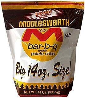 Middleswarth Kitchen Fresh Potato Chips Bar-B-Q Flavored! - Big Bag 14 Oz. (3 Bags)