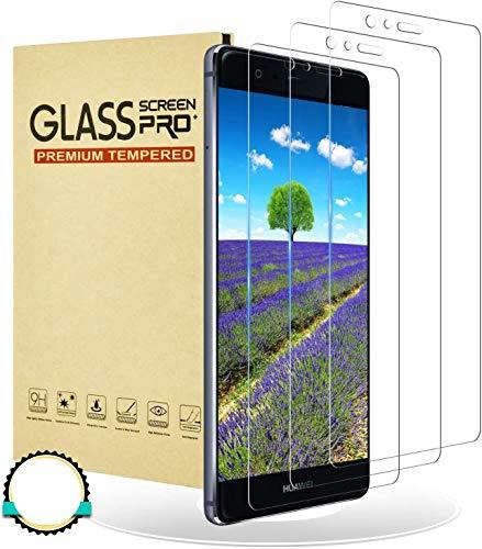RIIMUHIR Cristal Templado para Huawei P9, Protector de Pantalla para Huawei P9, Vidrio Templado, [Sin Burbujas] [Anti-Rasguños] [Alta Definicion] - 3 Piezas