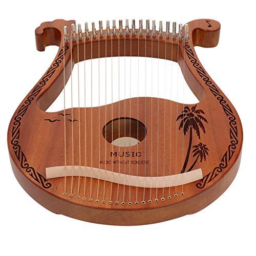 Kommen Sie mit Ring End Designs Hohe Härte und Dichte Leicht zu spielende Leier, Mahagoni Holz geschnitzt 19 Saiten Leier, für Kinder Erwachsene