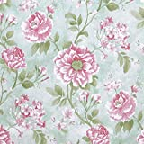Floral Peel and Stick Wallpaper Floral Contact Paper Decorative Flower Wallpaper Vintage Floral Wallpaper Self-Adhesive Contact Paper Vinyl Roll for Wall Covering 118'x17.7'