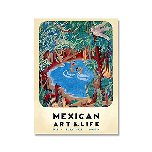 Exposición de arte y vida de México, póster imprime México 1938, portada de revista, pintura artística para pared, pintura en lienzo sin marco para el hogar, A2 60x90cm